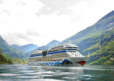 AIDAblu in den norwegischen Fjorden