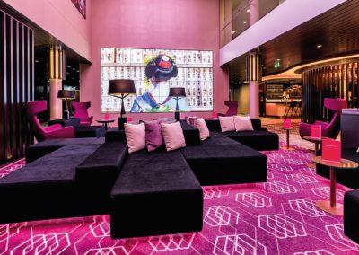 Schicke Lounge im Asiastil