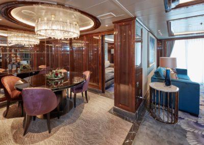 Luxuriöse Kabinen bei Kreuzfahrten auf der Queen Victoria