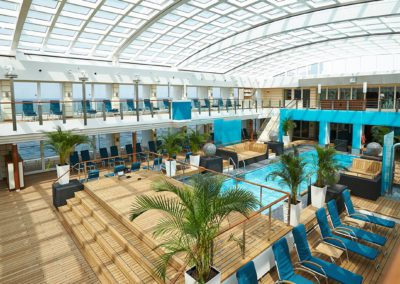 Pooldeck der MS Europa 2
