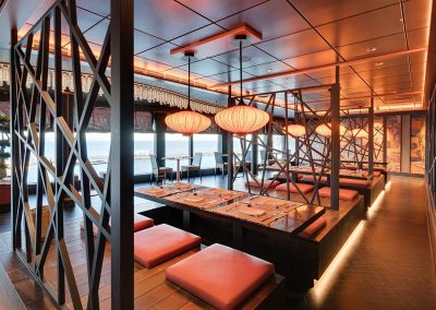Restaurant der MSC Seaside