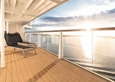 Balkon auf der Mein Schiff 2