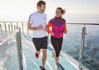Jogging-Parcours auf der Mein Schiff 2