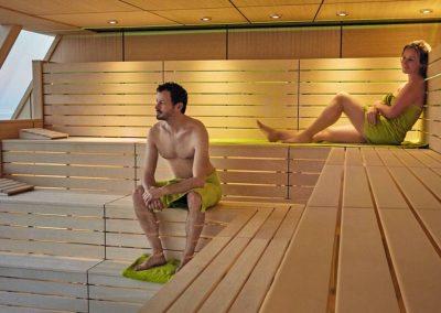 Sauna auf der Mein Schiff 2